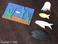 Activity for ages 2-4. Slippery Fish