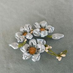 Beautiful pale blue floral spray with wax buds
