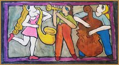 You Will Love Our Lovely Designs :): Acrylic Colour Painting -  Jazz Musicians