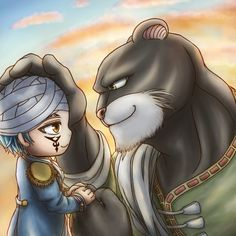 Little (edolas) Jallal and Panther Lilly | Fairy Tail