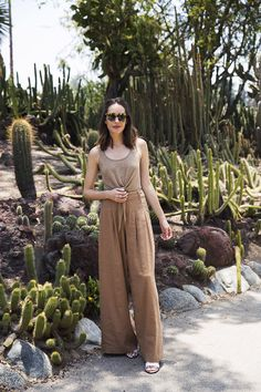 Louise Roe | Brown Palazzo Pants & Crop Top 3