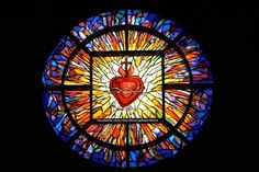Sacred Heart stain glass