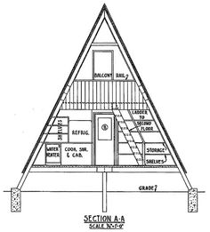 Cross Section of a A Frame House