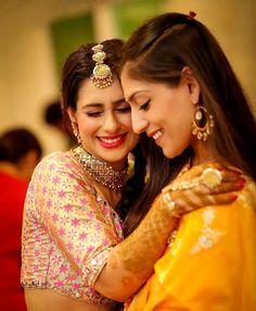 Bride and sister Saree Photoshoot, Bridal Photoshoot, Bridal Shoot, Bridal Poses, Wedding Poses, Wedding Dresses, Wedding Bride, Bride Groom, Wedding Decor