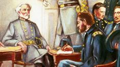 In April 1865 Gen. Robert E. Lee surrenders to Gen. Ulysses S. Grant, bringing an end to the Civil War after four years of battle. (video clip)