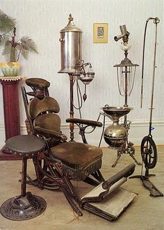 1790 was a big year for dentistry, as this was also the year the first specialized dental chair was invented. It was made from a wooden Windsor chair with a headrest attached.