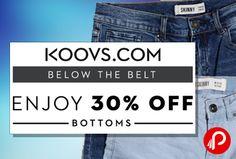 http://www.paisebachaoindia.com/women-bottom-wear-jeans-skirts-shorts-30-off-koovs/