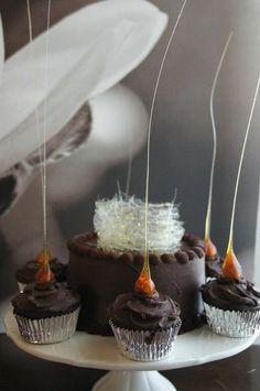 Dessert with Spun Sugar