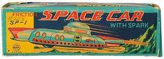 Vintage Space Car Packaging