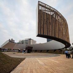 Ring Celestial Bliss, em Hsinchu City, Taiwan. Projeto do escritório J.J. Pan & Partners. #architecture #arquitetura #arte #artes #arts #art #artlover #design #architecturelover #instagood #instacool #instadaily #design #projetocompartilhar #davidguerra #arquiteturadavidguerra #shareproject #bambu #leveza #bamboo #lightness #bambooarchitecture #ringcelestialbliss #hsinchucity #taiwan #jjpanandpartners #jjpan