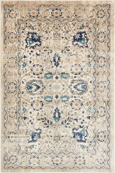 This Turkish Stockholm rug is made of Polypropylene. This rug is easy-to-clean, stain resistant, and does not shed. Colors found in this rug include: Beige, Gray, Light Blue, Navy Blue, Tan, Teal. The primary color is Beige.