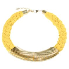 Spring Necklace Yellow