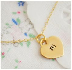 Heart Initials Necklace - $15.99. http://www.bellechic.com/products/d275dd13fb/heart-initials-necklace