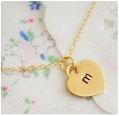 Heart Initials Necklace - $15.99. http://www.bellechic.com/products/d275dd13fb/heart-initials-necklace