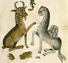 goat and camel'The Tudor Pattern Book', England ca. 1520 (Bodleian Library, MS. Ashmole 1504, fol. 32r)