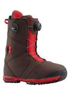 Burton Men's Photon Boa® Snowboard Boot, Brown / Red, Source by burton shoes jimmy choo Burton Snowboards, Burton Boots, Jimmy Choo, Celine, Snowboard Girl, Snowboarding Men, Hello Winter, Skateboard Girl, Bicycle Design