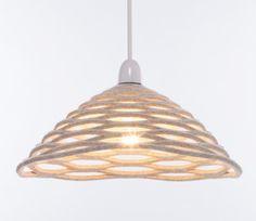 Honey lampshade (natural) by Desinature