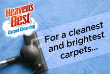 Heaven's Best exclusive formula, specialized tools, and trained professionals remove dirt and grime from