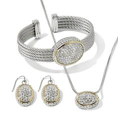 """Emma Skye """"Light Up the Skye"""" Jewelry Set w/Necklace these are heirloom quality pieces, will you believe the complete set only 89.95 check it out on HSN.COM"""