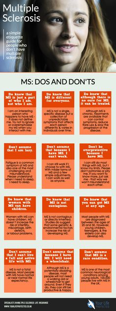 multiple sclerosis guide infographic on etiquette dos and donts