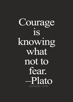Courage is knowing what not to fear. #quote #plato #lifequote