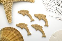 """Share a little bit of the ocean with your """"Sweet Dog"""" with BEACH DOG homemade organic dog treats. Organic Dog Treats, Dog Beach, Gingerbread Cookies, Ocean, Homemade, Unique Jewelry, Sweet, Handmade Gifts, Desserts"""