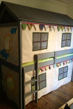kids room:  bunkbed house / chambre des enfants: le lit cabane - superposé