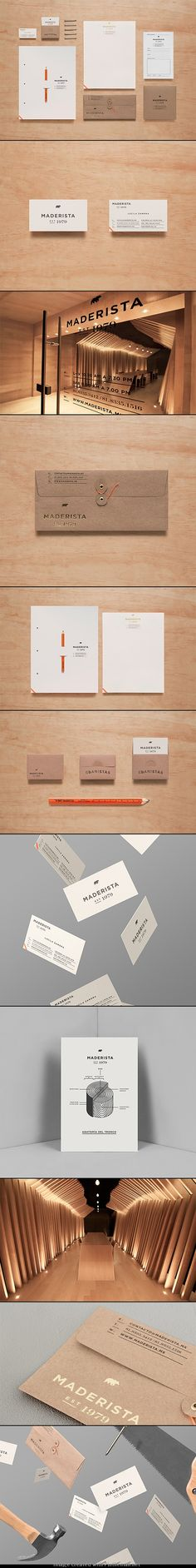 "Note: The outstanding photography of the branding items outshines the actual design of the brand/CI. ""Madersita Identity"""