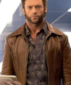 Fantastic offer Filmstarlook present Marvel Comics movie X-Men: Days of Future Past fictional superhero Wolverine Brown leather Jacket now available for sale, One Month easy return and exchange offer surprise gift include. Indiana Jones Jacket, Harrison Ford Indiana Jones, Leather Men, Leather Jacket, Brown Leather, Hollywood Pictures, Men's Day, Bomber Jacket Men, Comic Movies