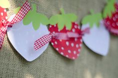 Strawberry Party PRINTABLE DIY Birthday Decals by lovetheday, $5.00