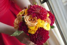 Elizabeth Wray Design-Colorful Bridesmaid's bouquet.   Kelly Vanderploeg Photography.