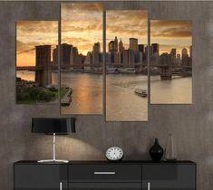 New York skyline Canvas Art, New York Canvas Print, New York Wall Art, New York Wall Decor, New York Wall Art, New York Framed Canvas