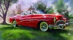 Garth Glazier Arts. Garth Glazier 1953 Buick Eight Convertible.