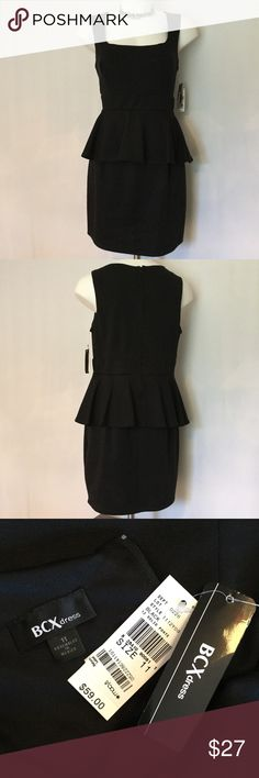 BCX Little Black Peplum Dress 🎉HP BCX Little Black Dress, sleeveless with an adorable peplum waist! Brand New with Tags! BCX Dresses
