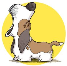 Ideas dogs drawing hound art Ideas dogs drawing h. Cartoon Kunst, Cartoon Dog, Cartoon Drawings, Animal Drawings, Animals And Pets, Cute Animals, Hound Dog, Basset Hound Funny, Dog Art