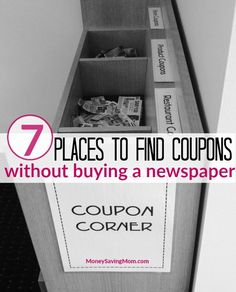 7 Places to Find Coupons Without Buying a Newspaper!