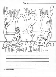 Free New Year's Resolution Fun Worksheet for 2020 Fun Worksheets For Kids, Kindergarten Math Worksheets, Kindergarten Writing, Math For Kids, Math Literacy, New Year's Eve Activities, Fine Motor Activities For Kids, Writing Activities, Teaching Resources