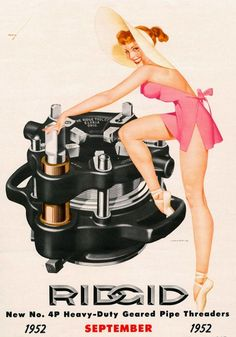 A published Calendar image for Ridgid Tools - September 1952