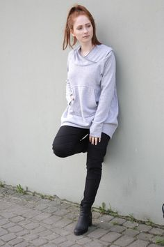 S Bella Bella Gray - Bluza/Sweter od Navaho  - NAVAHO - Koszulki i bluzy