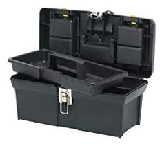 Tool storage is made easy with the STANLEY® 19 in. 2000 Series Toolbox with Tray. It has two lid organizers for small parts storage that can be accessed without opening the lid, as well as a tote tray inside. Storage Sheds For Sale, Garage Storage Systems, Shed Storage, Tool Storage, Small Parts Storage, Lid Organizer, Organizers, Power Hand Tools, Home Tools
