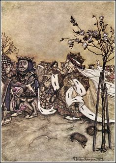 Chapter The Queen's Croquet Ground. Alice in Wonderland by Lewis Carroll - Arthur Rackham illustrations Arthur Rackham, Lewis Carroll, Alice In Wonderland Illustrations, Inspiration Artistique, Adventures In Wonderland, Wonderland Alice, Wonderland Party, Conte, Fantasy Art