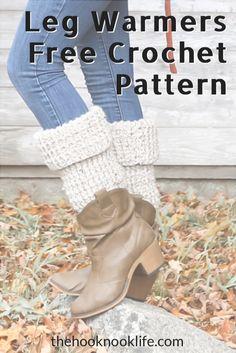 Make these chunky leg warmers now using this Free Crochet Pattern on The Hook Nook Life Blog! Fast Crochet, Chunky Crochet, Chunky Yarn, Diy Crochet Patterns, Easy Crochet Projects, Diy Crafts List, Foundation Half Double Crochet, Crochet Leg Warmers, Crochet Fashion