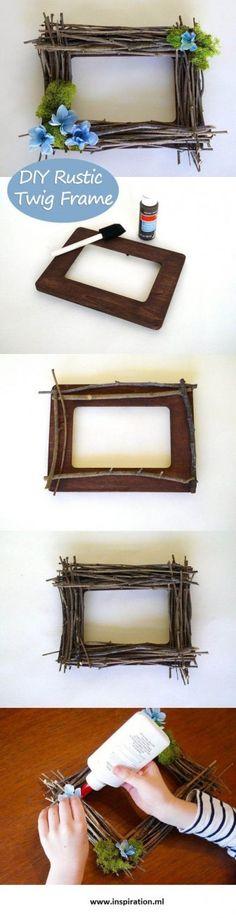 How to Make DIY Rustic Twig Frame