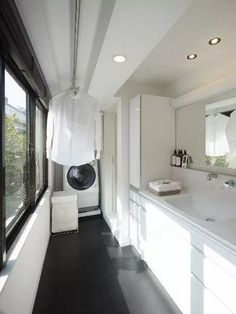 60 drying room design ideas that you can try in your home 26 ~ Litledress Room Interior, Interior Design Living Room, Living Room Designs, Laundry Room Storage, Laundry In Bathroom, Laundry Closet, Small Laundry, Drying Room, Laundry Room Inspiration