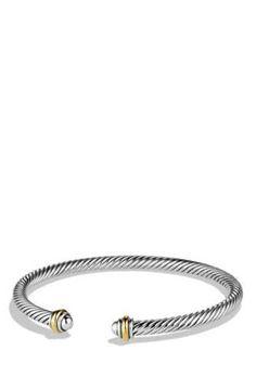 David Yurman 'Cable Classics' Bracelet with Gold