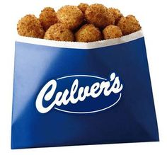 Yum!  Culver's Wisconsin cheese curds!  I could eat these every day!