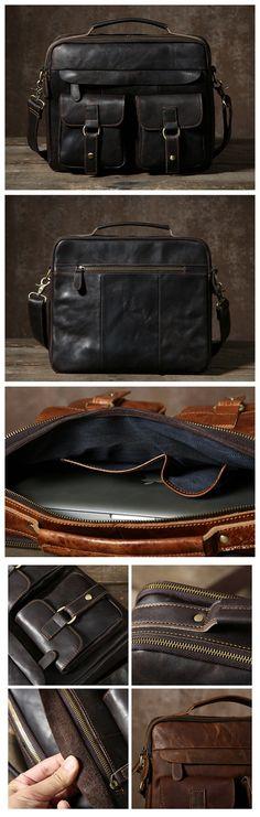 Leather Messenger Bag, Men's Laptop Bag, Leather Shoulder Bag GLT005 Mens Leather Laptop Bag, Leather Shoulder Bag, Leather Men, Fashion 2020, Mens Fashion, Popular Bags, Vintage Leather, Messenger Bag, Satchel