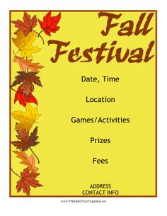 Church Harvest Festival Flyer Template Lords Acre Pinterest - Free printable event flyer templates