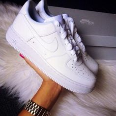NIKE Women Men Running Sport Casual Shoes Sneakers Air force White