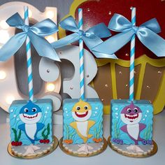 3rd Birthday Party For Boy, Shark Party Decorations, Shark Cupcakes, Advent Calendars For Kids, Baby Shark Doo Doo, Festa Toy Story, Treats, Shark Party, Birthday Party Boys